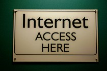 Internet Access Here Sign - credits to Steve Rhode
